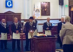 Grand Master presentation of 50 year service award